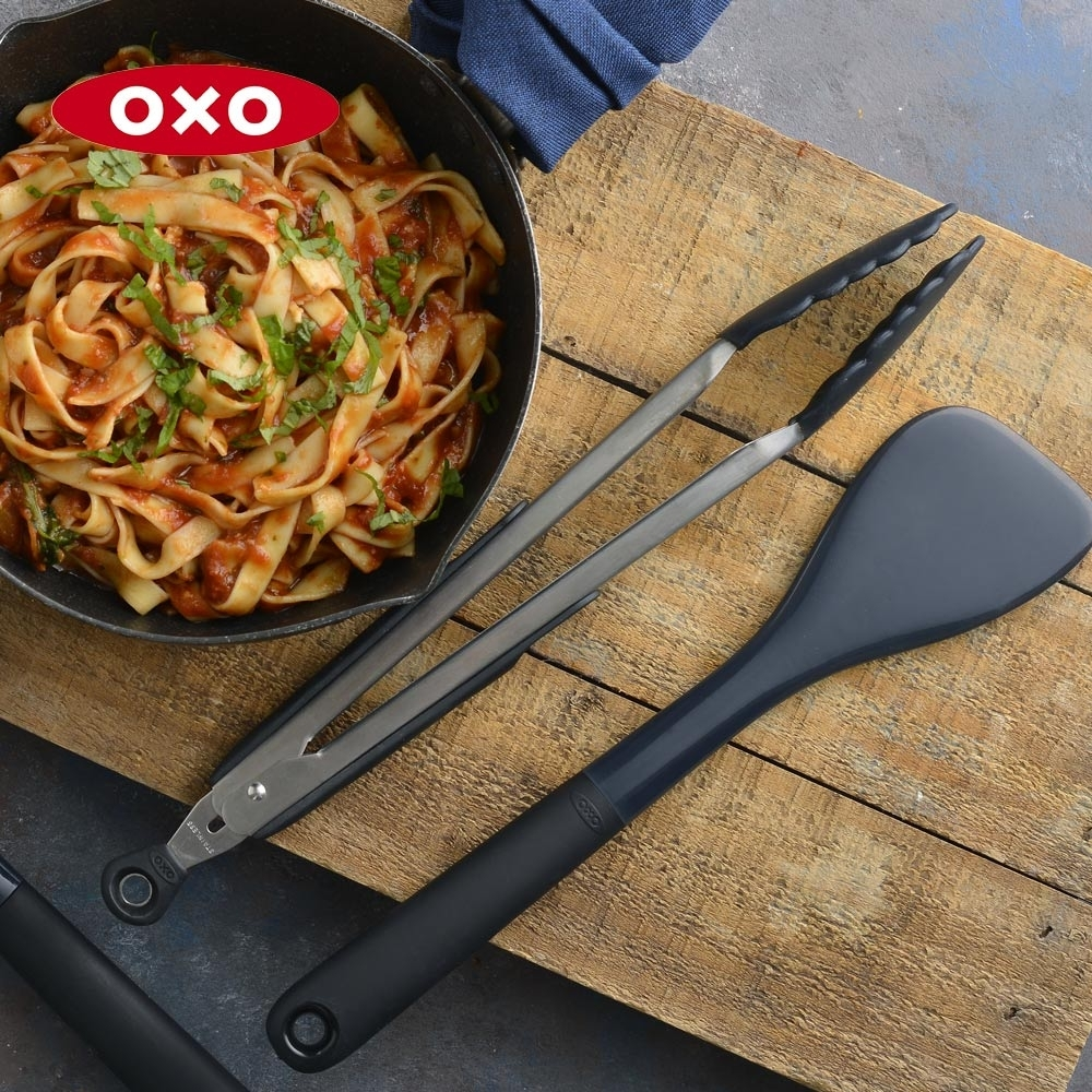 美國OXO 好好握9吋矽膠餐夾(快)