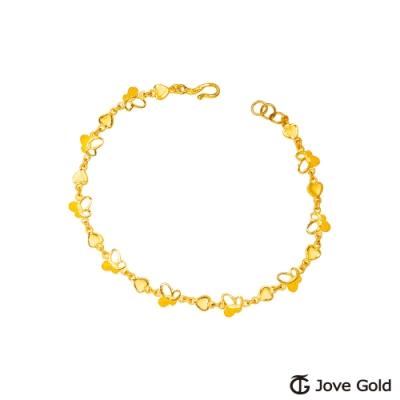 Jove Gold 漾金飾 穿梭夢境黃金手鍊-雙面設計