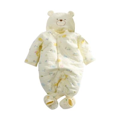 台灣製三層棉帽衣腳三件套兔衣組 b0234 魔法Baby