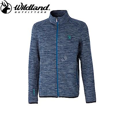 【Wildland 荒野】男雙色輕量保暖外套藍