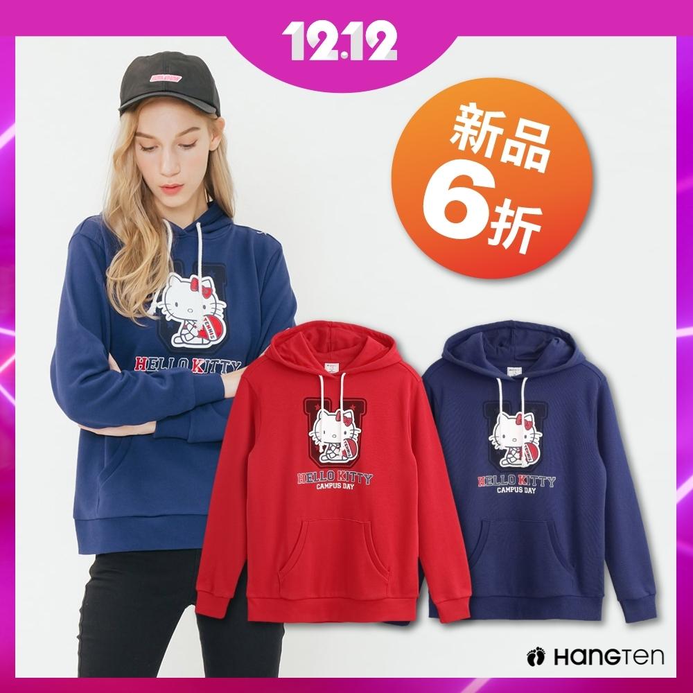 [時時樂限定]Hang Ten-女裝 Hello kitty帽T-兩款選
