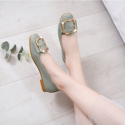 KEITH-WILL時尚鞋館 柔美氛圍平底鞋-綠色