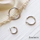 JINCHEN 純銀圓圈耳環