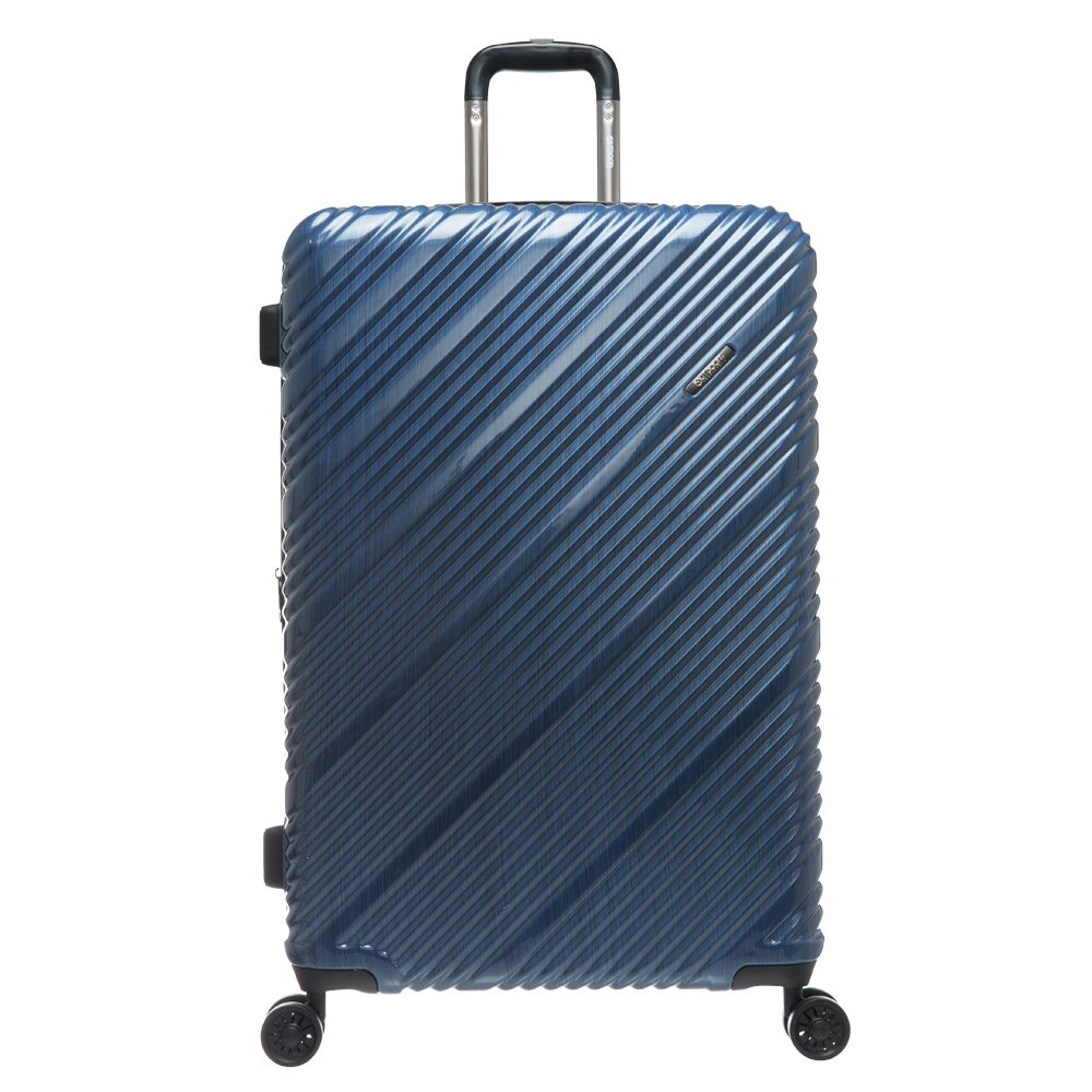 SKYLINE -28吋拉鍊箱-藍髮絲紋 OD9089C28NY