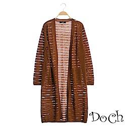【Doch】韓系螺紋針織罩衫(共三色)
