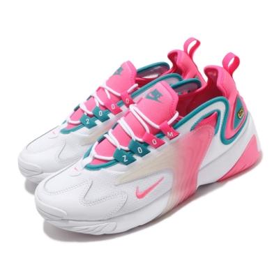 Nike 休閒鞋 Zoom 2K 運動 女鞋 海外限定 氣墊 避震 復古 球鞋 穿搭 白 粉 CU2988166