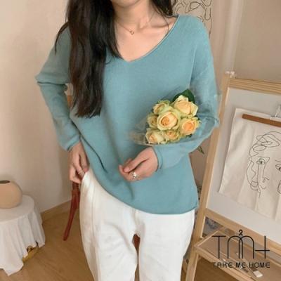 舒適V領針織衫-9色-TMH