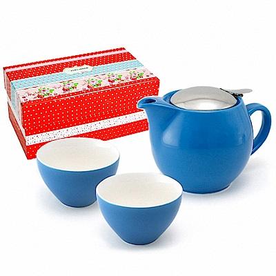 ZERO JAPAN 典藏陶瓷一壺兩杯超值禮盒組(土耳其藍)