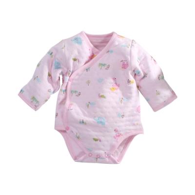 台灣製三層棉厚純棉護手連身衣 b0220 魔法Baby