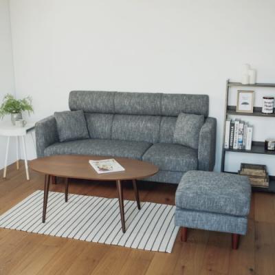 完美主義 高背L型沙發/三人座/椅凳/可拆洗(2色)-DIY
