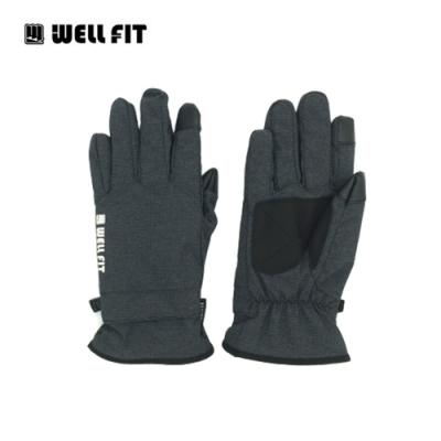 WellFit 輕量防水觸控保暖手套【格紋深灰】(登山、旅遊、保暖、機車、滑雪)