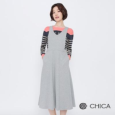 CHICA 女孩童話背心連身傘襬洋裝(2色)