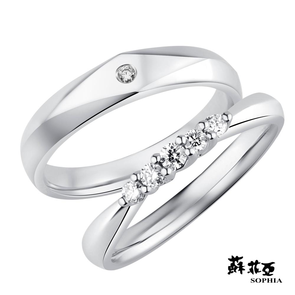 SOPHIA 蘇菲亞珠寶 - 築戀 950鉑金 結婚對戒
