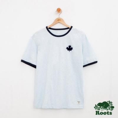 男裝Roots 度假小屋短袖T恤-藍