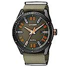 CITIZEN 星辰光動能軍風時尚手錶(BM6998-11X)-綠/42mm