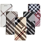 Aguchi亞古奇Samsung Galaxy J7 Pro英倫格紋氣質手機皮套