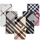 Aguchi 亞古奇 Apple iPhone 6/6s 英倫格紋氣質手機皮套
