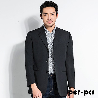 per-pcs 摩登質男毛料經典素面款西裝外套(84515)