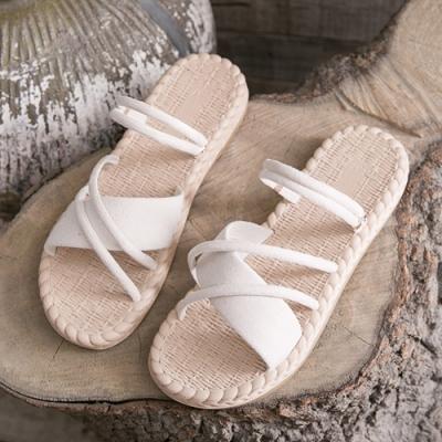 KEITH-WILL時尚鞋館 獨家價美腿平底涼鞋-米