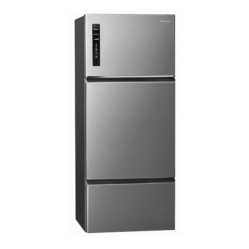 Panasonic國際牌 481L 三門變頻無邊框鋼板系列電冰箱 NR-C481TV