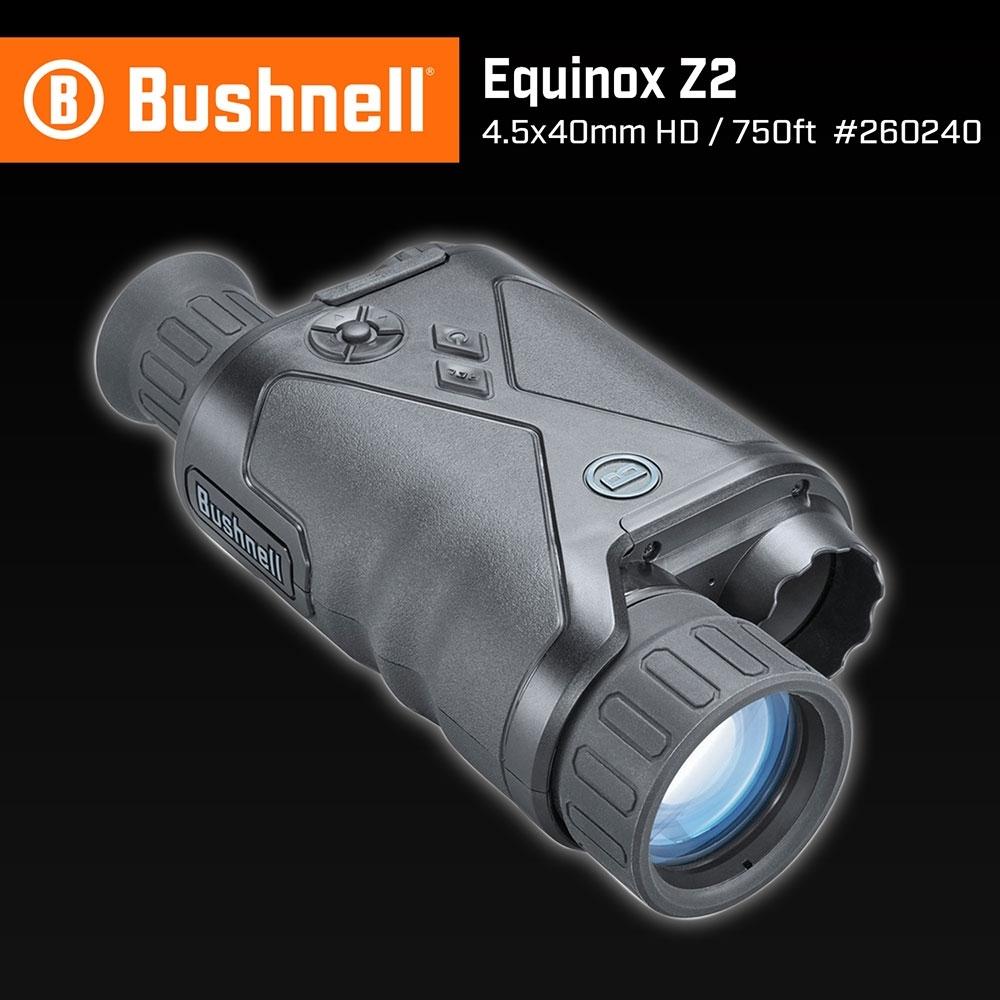 【美國 Bushnell 倍視能】Equinox Z2 新晝夜系列 4.5x40mm 數位日夜兩用紅外線單眼夜視鏡 260240 (公司貨)