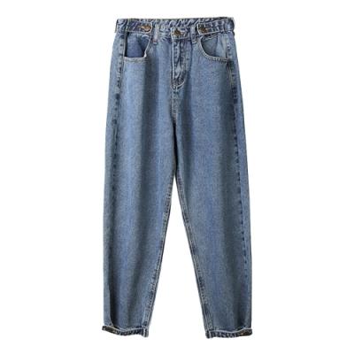調節扣寬鬆牛仔褲 TATA-(S~L)