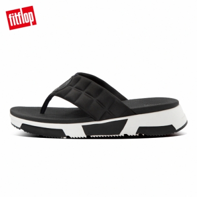 FitFlop HAYLIE QUILTED CUBE TOE-THONGS運動風夾腳涼鞋-女(黑色)