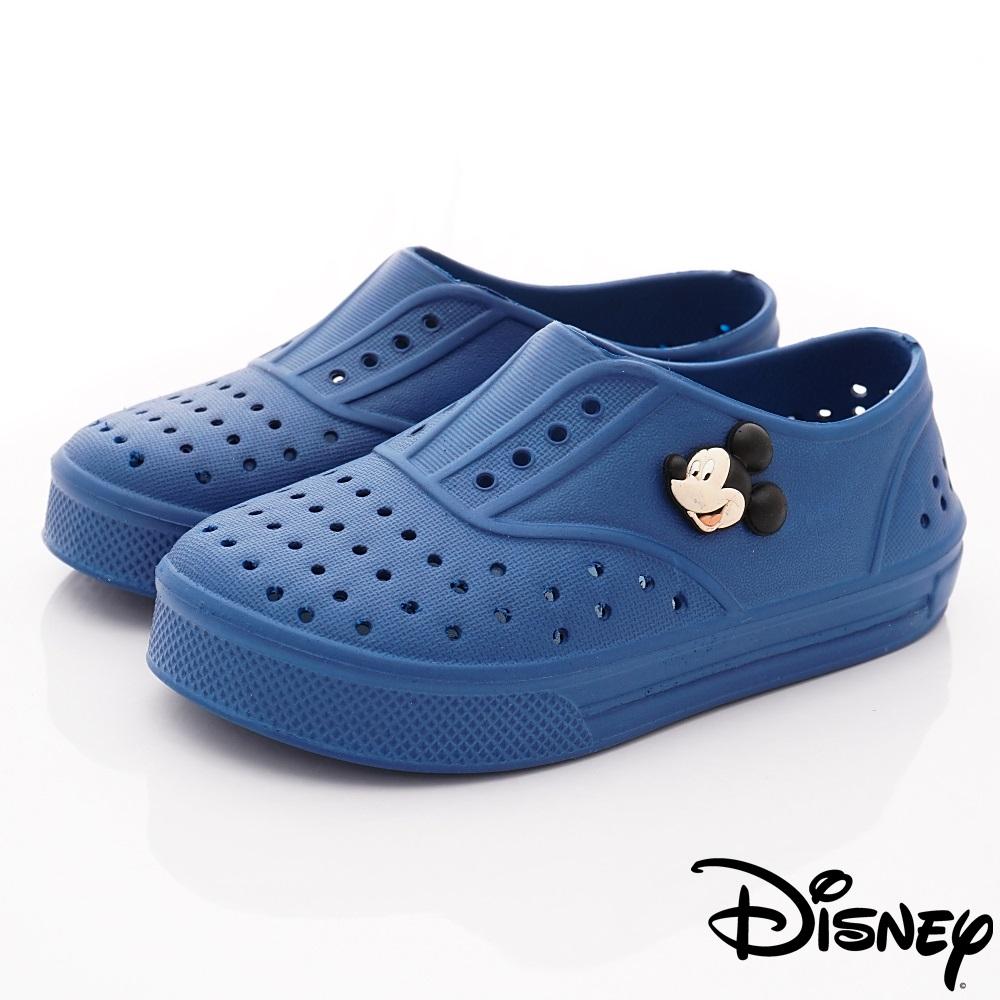 迪士尼童鞋 米奇輕量洞洞鞋款 ON17010藍(小童段)