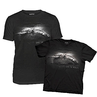 摩達客-美國The Mountain保育系列拯救鯨魚短袖T恤親子裝