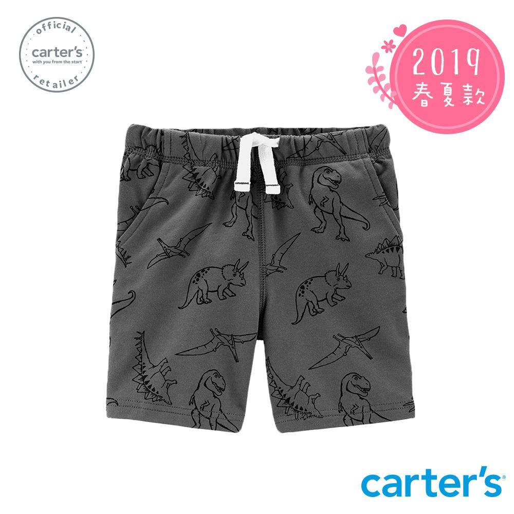 Carter's台灣總代理 滿版恐龍印圖短褲