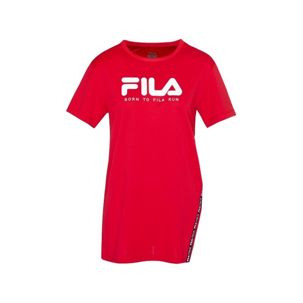 FILA 女抗UV吸濕排汗T恤-紅 5TEV-1317-RD