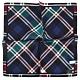 TRUSSARDI 蘇格蘭格紋純綿紳士帕巾-深藍色 product thumbnail 1