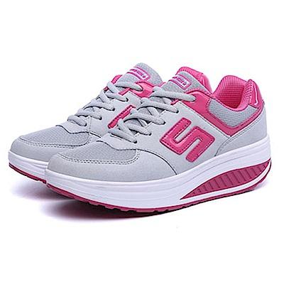 韓國KW美鞋館 運動健美輕量透氣網布健走鞋-灰色