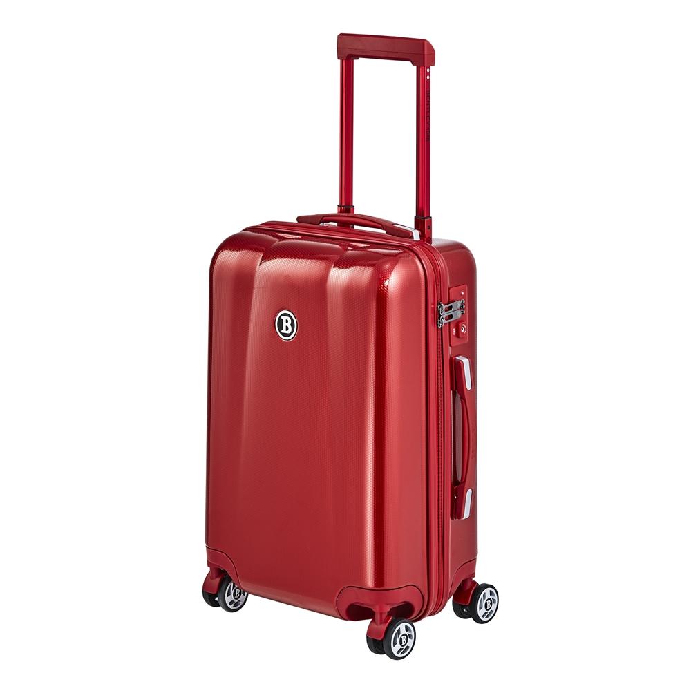 BENTLEY 20吋 PC+ABS 蜂巢纹拉鍊款輕量行李箱 -紅