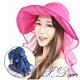 I.Dear-日本全方位抗UV防曬大帽簷波浪荷葉網紗護頸遮陽帽(4色) product thumbnail 1