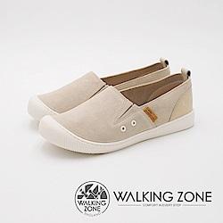 WALKING ZONE 3M防水系列 CUTE圓頭休閒女鞋-米(另有藍)