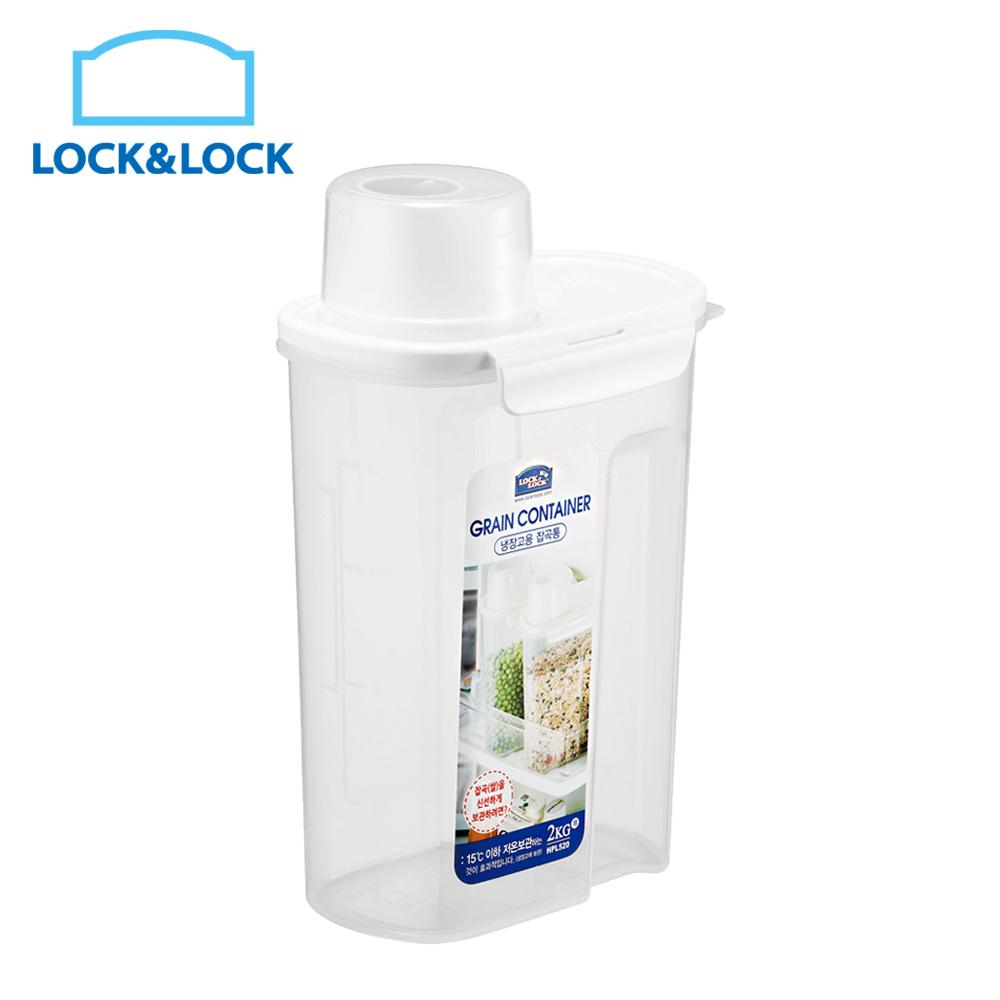 【LOCK & LOCK 樂扣樂扣】PP微波保鮮盒(穀物收納桶2kg)