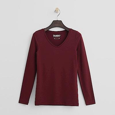 Hang Ten - 女裝-ThermoContro恆溫多功能智慧暖溫V領上衣-紅