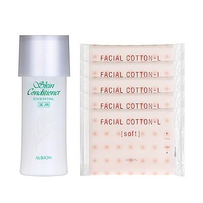ALBION艾倫比亞 健康化妝水(27ml)+按摩化妝棉(2入)x5
