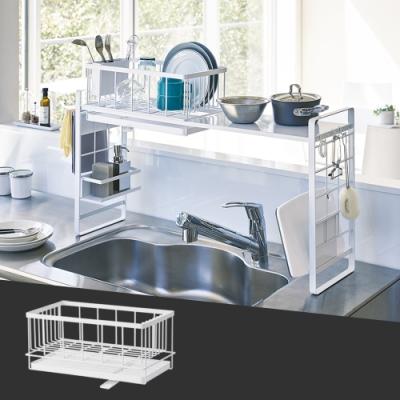 日本【YAMAZAKI】towerㄇ型專用瀝水架(白)L★ㄇ型收納/多功能收納/居家收納/組合置物架