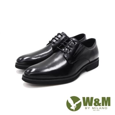 W&M(男)素面基本商務紳士皮鞋 男鞋-黑