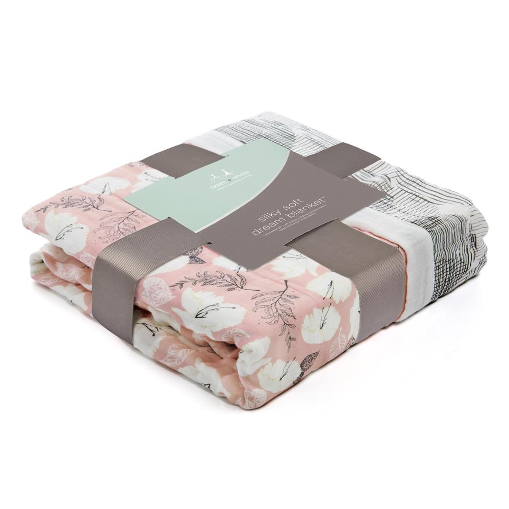 美國aden+anais嬰幼兒絲柔(竹纖維)被毯-典雅花紋系列AA9328