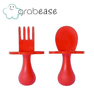 grabease 美國 嬰幼兒奶嘴匙叉組-番茄紅