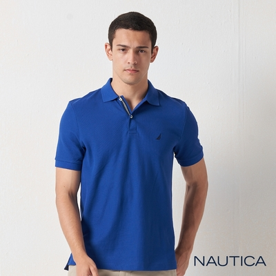 Nautica經典款素色短袖POLO衫-寶藍
