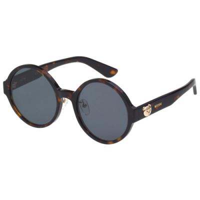 Moschino 復古圓面 小熊 太陽眼鏡(琥珀色)