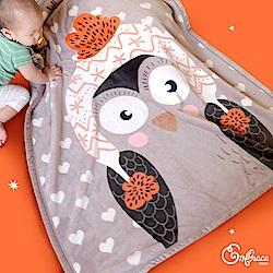 mbrace英柏絲 暖暖動物 法蘭絨雙層兒童暖毯