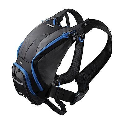 【SHIMANO】UNZEN 6L 自行車水袋背包 黑/閃電藍色