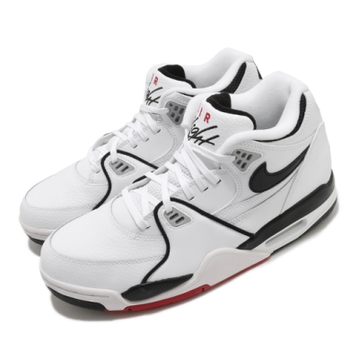 Nike 休閒鞋 Air Flight 89 運動 男鞋 簡約 皮革 質感 復古 球鞋 穿搭 白 黑 DB5918100