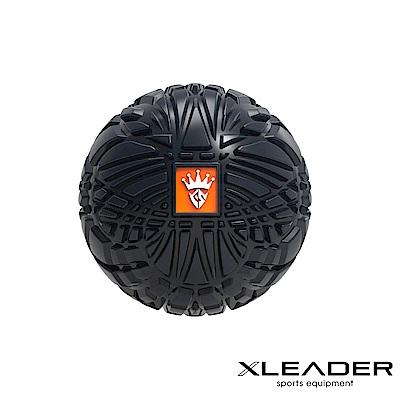 Leader X 3D立體浮點 健身按摩紓壓筋膜球8cm 附收納袋 黑色 - 急