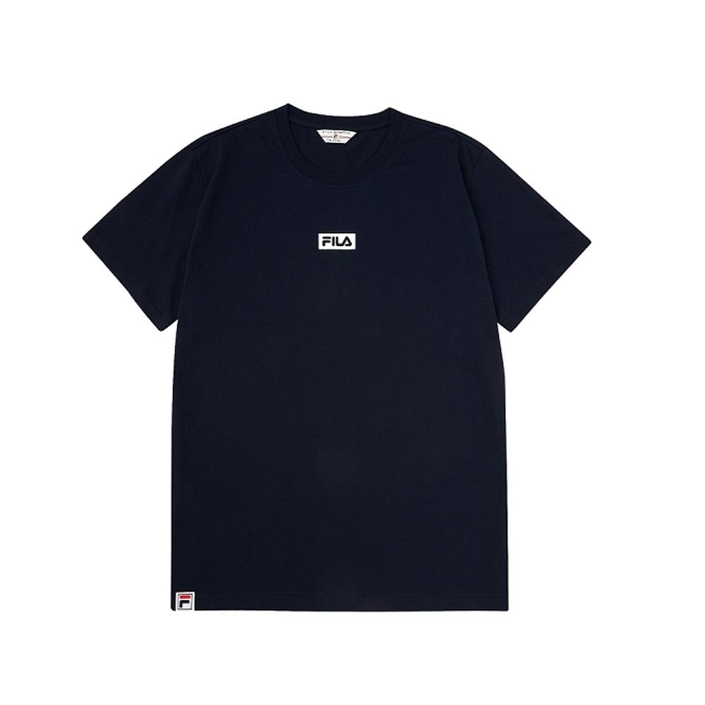FILA 短袖圓領T恤-丈青 1TEV-1527-NV